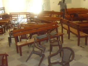 Interior of Gereif Bible Church